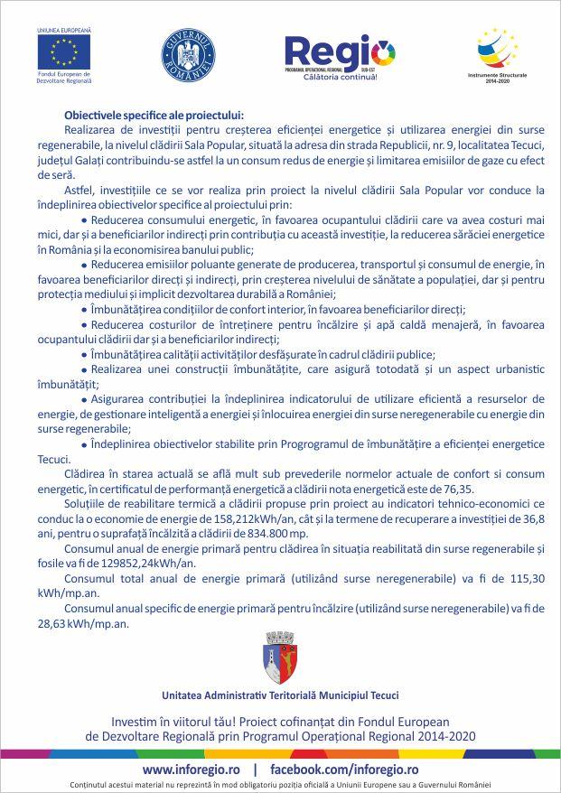 Mun. Tecuci - Cladire Sala Popular - SMIS 118531 - prezentare proiect pag 2