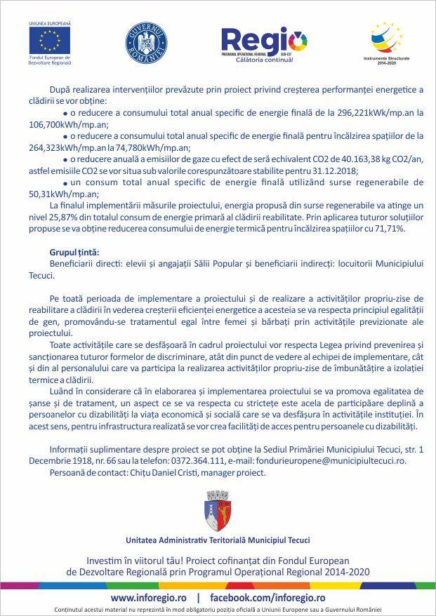 Mun. Tecuci - Cladire Sala Popular - SMIS 118531 - prezentare proiect pag 3- 50 buc